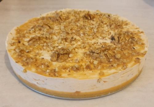 Cheesecake caramel si nuci 1400 gr